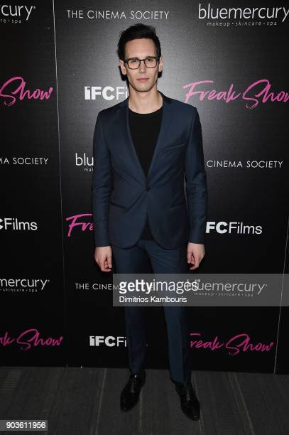 Cory Michael Smith attends the premiere of IFC Films' 'Freak Show' hosted by The Cinema Society at Landmark Sunshine Cinema on January 10 2018 in New...