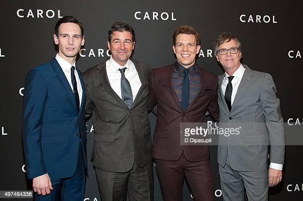 """Cory Michael Smith, Kyle Chandler, Jake Lacy, and director Todd Haynes attend the """"Carol"""" New York premiere at the Museum of Modern Art on November..."""