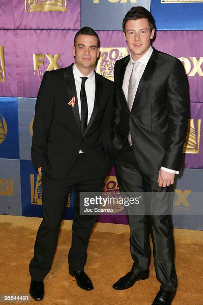 Cory Monteith and Mark Salling of Glee arrive at FOX Hosts 2010 Golden Globe Nominees Party at Craft on January 17 2010 in Century City California
