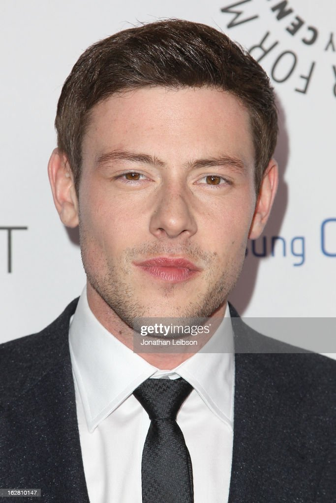 Cory Monteith arrives to the Inaugural PaleyFest Icon Award honoring Ryan Murphy at The Paley Center for Media on February 27, 2013 in Beverly Hills, California.