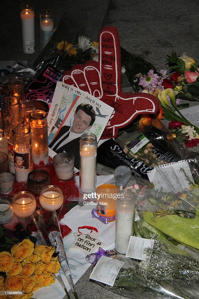 Cory Monteith Memorial as seen on July 15, 2013 in Los Angeles, California.