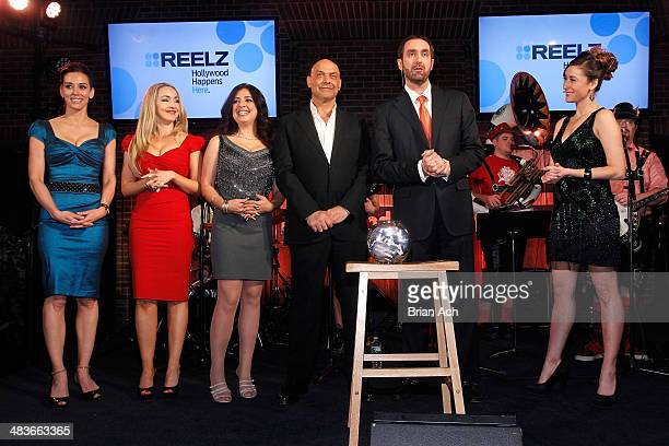 Cory Oliver Aria Johnson Dominique Pinassi and Yossi Dina of Beverly Hills Pawn Senior Vice President of Advertising Sales at Reelz Bill Rosolie and...
