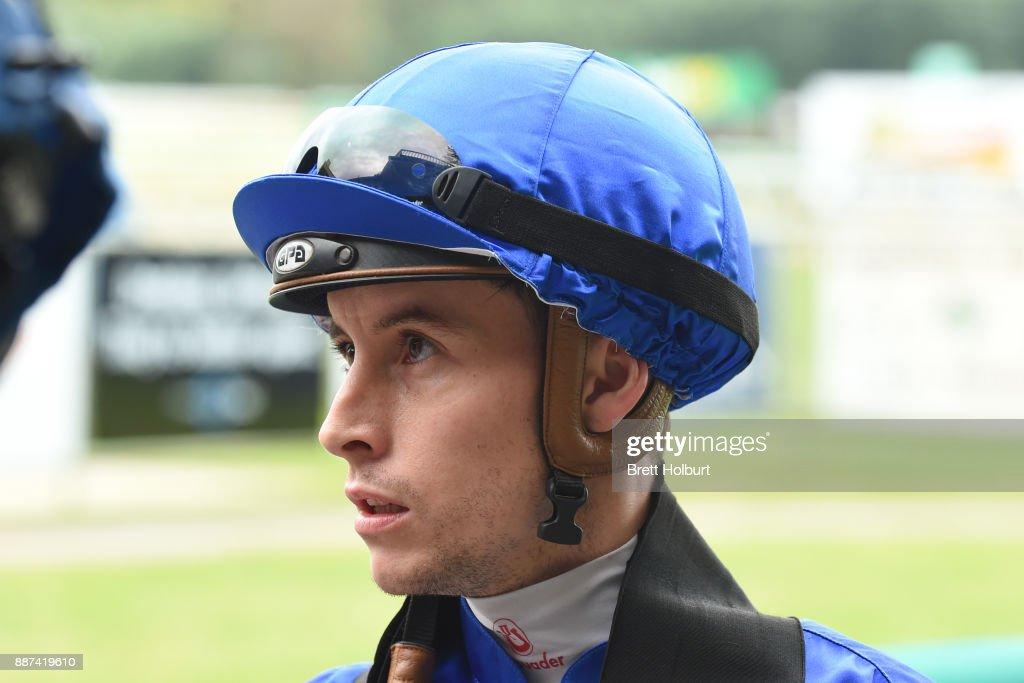 Cory Parish after winning the The Last Legg Stakes BM64 Handicap at Kyneton Racecourse on December 07, 2017 in Kyneton, Australia.