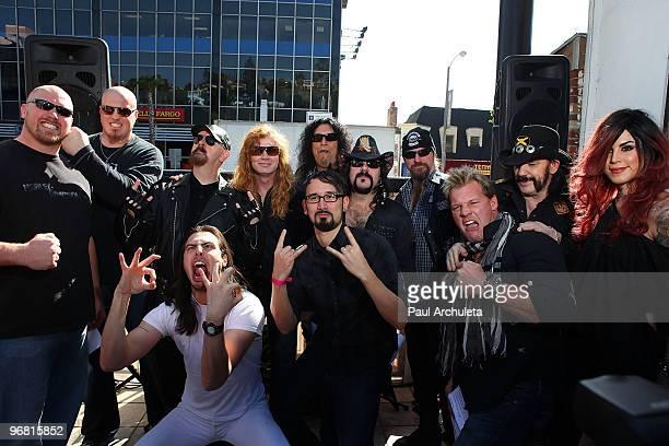 Cory Procter Marc Colombo Rob Halford Andrew WK Dave Mustaine Brandon Geist Chuck Billy Vinnie Paul Zakk Wylde Chris Jericho Lemmy Kilmister Kat Von...