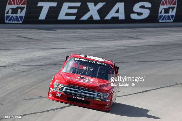 Cory Roper driver of the Preferred Industrial Contractors Inc Ford drives during practice for the NASCAR Gander Outdoors Truck Series SpeedyCashcom...