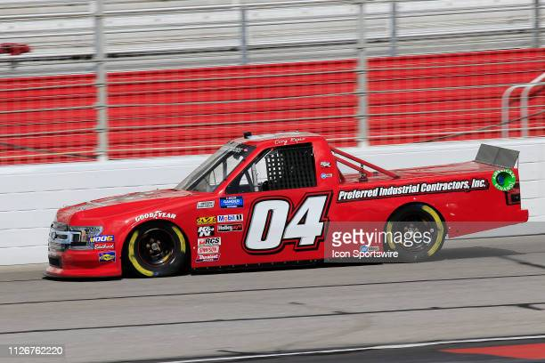 Cory Roper Roper Racing Ford F150 during practice for the Ultimate Tailgating 200 NASCAR Gander Outdoors Truck Series race on February 22 2019 at the...