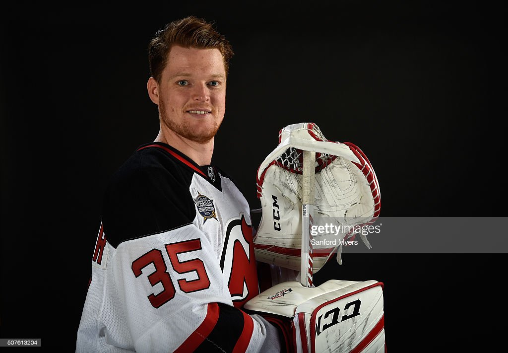 Cory Schneider #35 of the New Jersey Devils poses for a 2016 NHL All-Star portrait at Bridgestone Arena on January 30, 2016 in Nashville, Tennessee.