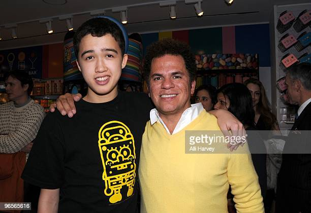 Cory Silverstein and Romero Britto attend the Romero Britto event at Dylan's Candy Bar on February 10 2010 in New York City