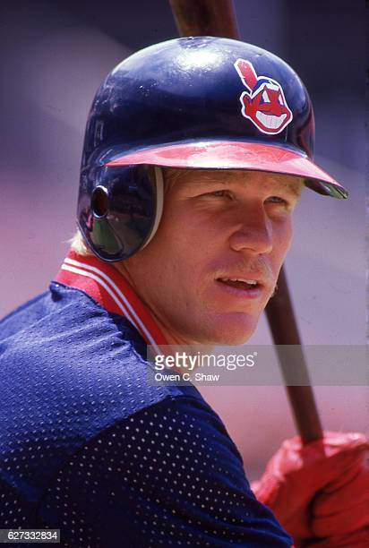 Cory Snyder of the Cleveland Indians circa 1986 takes BP against the California Angels at the Big A in Anaheim California