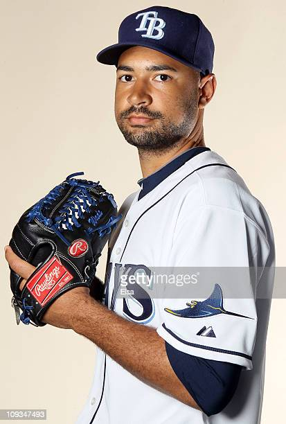 Cory Wade of the Tampa Bay Rays poses for a portrait during the Tampa Bay Rays Photo Day on February 22 2011 at the Charlotte Sports Complex in Port...