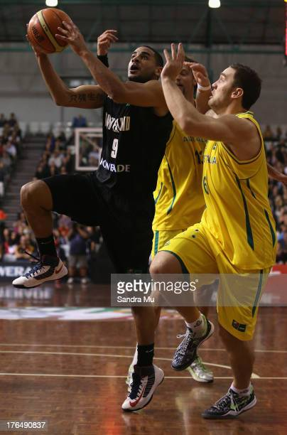 Cory Webster of New Zealand in action during the Men's FIBA Oceania Championship match between the New Zealand Tall Blacks and the Australian Boomers...