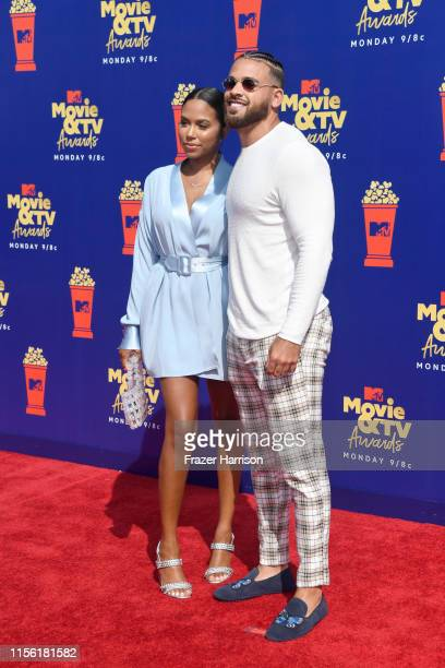 Cory Wharton and Cheyenne Floyd attend the 2019 MTV Movie and TV Awards at Barker Hangar on June 15 2019 in Santa Monica California