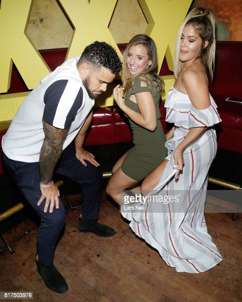 Cory Wharton Camila Nakagawa and Tori Deal attend The Challenge XXX Ultimate Fan Experience Q A and Reception at The Roxy Hotel on July 17 2017 in...