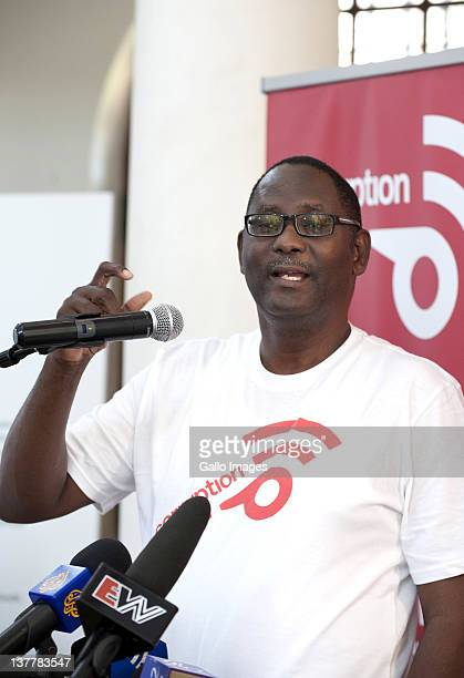 Cosatu secretarygeneral Zwelinzima Vavi at the launch of Corruption Watch a Cosatuled initiative at Constitution Hill on January 26 2012 in...