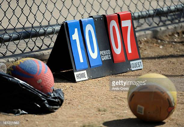 DENVER COScoreboard for the 3rd annual McKaila Ball a kickball party at the Colorado Rockies Fast pitch Softball Field at the All City Complex in...