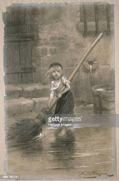 Cosette Illustration from Les Misérables by Victor Hugo 1862 Artist Bayard ÉmileAntoine