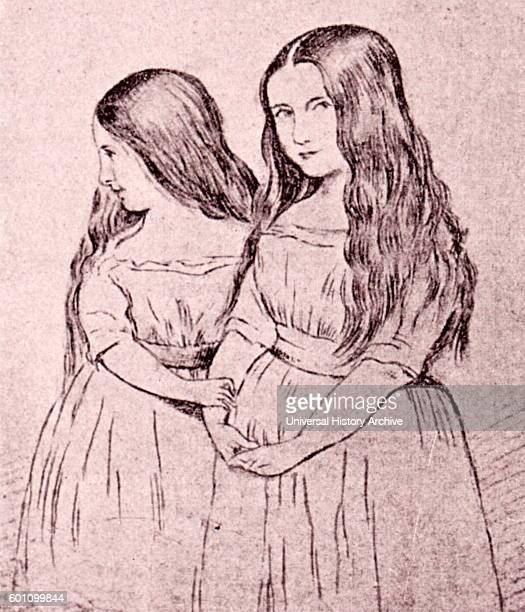 Cosima and Blandine Liszt daughters of Franz Liszt a prolific 19thcentury Hungarian composer Drawing by Hemri Lehmann