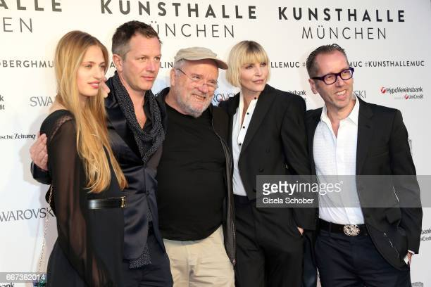 Cosima Auermann ThierryMaxime Loriot Photographer Peter Lindbergh Nadja Auermann and Roger Diederen director Kunsthalle Muenchen during the Peter...