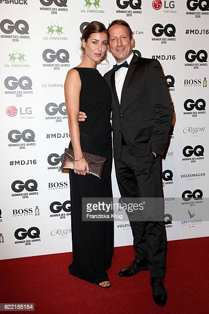 Cosima Lohse and Wotan Wilke Moehring arrive at the GQ Men of the year Award 2016 at Komische Oper on November 10 2016 in Berlin Germany