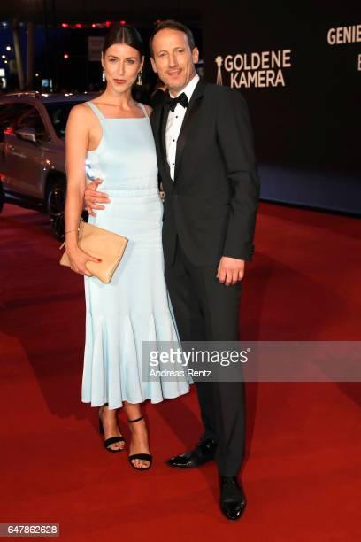 Cosima Lohse and Wotan Wilke Moehring arrive for the Goldene Kamera on March 4 2017 in Hamburg Germany