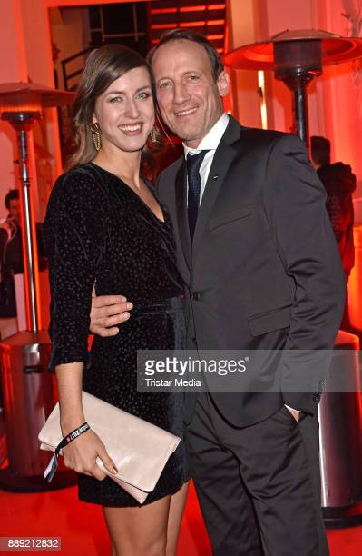 Cosima Lohse and Wotan Wilke Moehring attend the Ein Herz Fuer Kinder Gala 2017 - After Show Party at Borchardt Restaurant on December 9, 2017 in...