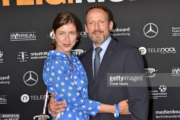 Cosima Lohse and Wotan Wilke Moehring attend the 'Steig Nicht Aus' Premiere on April 9 2018 in Berlin Germany