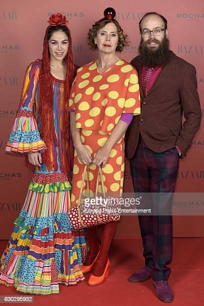 Cosima Ramirez Agatha Ruiz de la Prada and Tristan Ramirez attend Harper's Bazaar Flamenco Christmas Party in honor to USA ambassador James Costos...