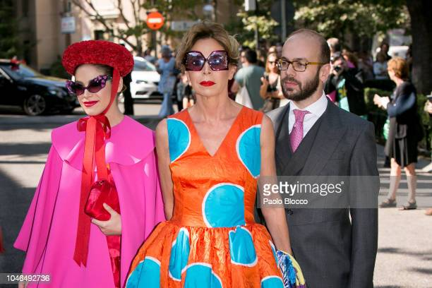 Cosima Ramirez Agatha Ruiz de la Prada and Tristan Ramirez attend the Fernando FitzJames Stuart and Sofia Palazuelo Wedding at Liria Palace on...