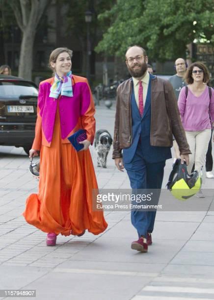 Cosima Ramirez Ruiz and Tristan Ramirez de la Prada attend the private dinner organised by Prince Albert II of Monaco at Teatro Real on June on June...