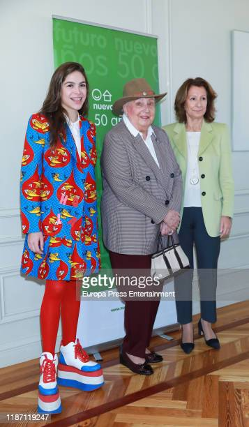 Cosima Ramirez Ruiz Princess Pilar of Spain and Pina Sanchez Errazuriz attend 'Rastrillo Nuevo Futuro 2019' presentation at Edificio Central...