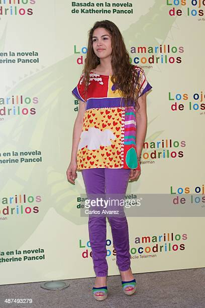 Cosima Rodriguez attends the Los Ojos Amarillos de los cocdrilos premiere at the Academia de Cine on April 30 2014 in Madrid Spain