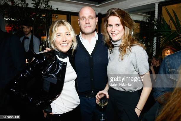 Cosima Ungaro Thomas Bonnouvrier and Marie de Menthon attend the Mastermind Magazine launch dinner as part of Paris Fashion Week Womenswear...
