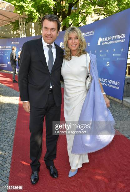 Cosima von Borsody and Bernhard Hock attend the Bayerische Fernsehpreis 2019 at Prinzregententheater on May 24 2019 in Munich Germany