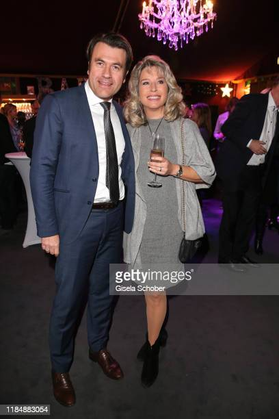 Cosima von Borsody and her husband Bernhard Hock at the celebration party of Radio Gong 963 at Teatro Schuhbeck on November 26 2019 in Munich Germany...