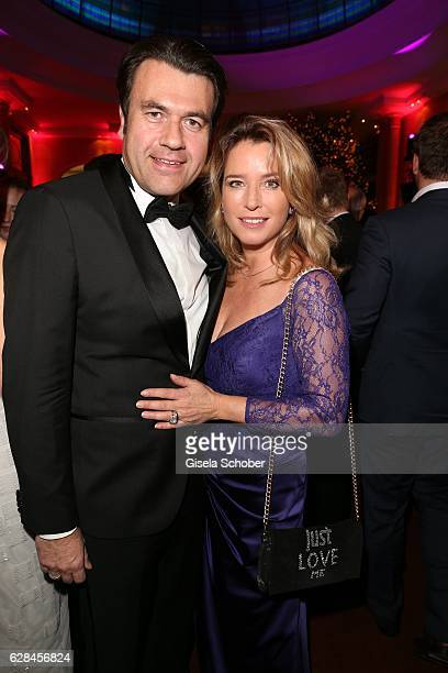 Cosima von Borsody and her husband Bernhard Hock during the 10th Audi Generation Award 2016 at Hotel Bayerischer Hof on December 7 2016 in Munich...