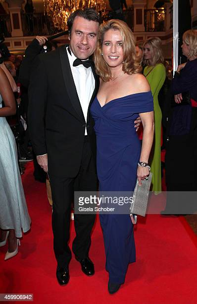 Cosima von Borsody and her husband Bernhard Hock during the Audi Generation Award 2014 at Hotel Bayerischer Hof on December 3 2014 in Munich Germany