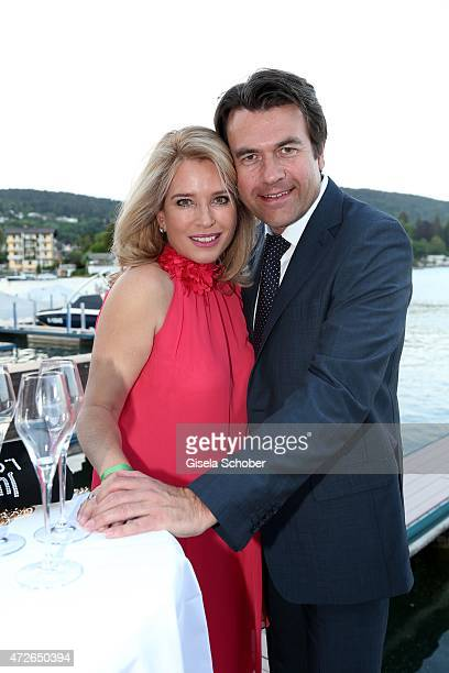 Cosima von Borsody and her husband Bernhard Hock during the 'Ein Schloss am Woerthersee' 25th anniversary gala on May 8 2015 in Velden Austria