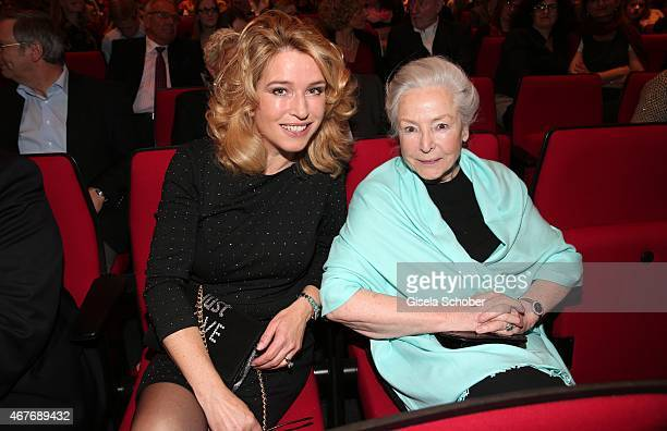 Cosima von Borsody and her mother Alwy Becker during the premiere of the musical Elisabeth at Deutsches Theatre on March 26 2015 in Munich Germany