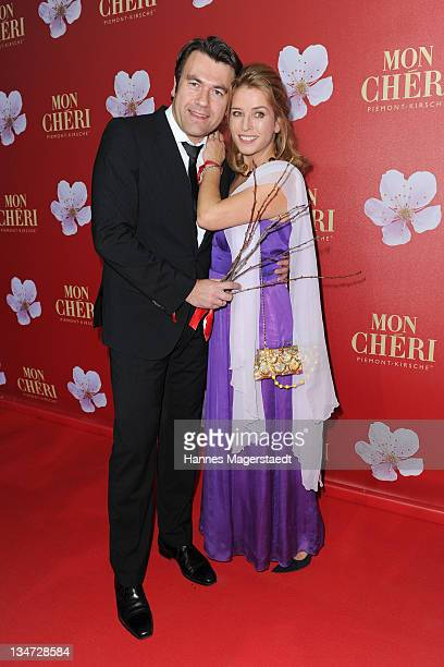 Cosima von Borsody and husband Bernhard Hock attend the 'Mon Cheri Barbara Day' Charity event at Muellersches Volksbad on December 3 2011 in Munich...