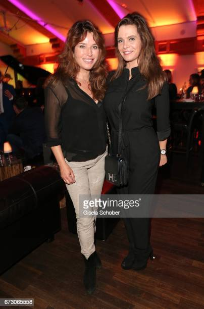 Cosima von Borsody and Sarah Hallhuber during the piano night hosted by Wempe and Glashuette Original at Gruenwalder Einkehr on April 25, 2017 in...