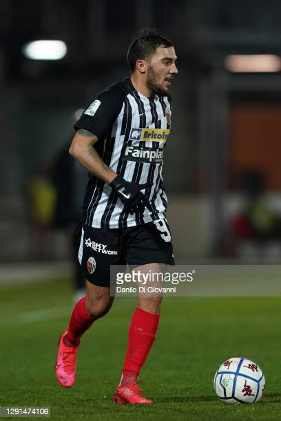 Cosimo Chiricò of Ascoli Calcio in action during the Serie B match between Ascoli Calcio and Cosenza Calcio at Stadio Cino e Lillo Del Duca on...
