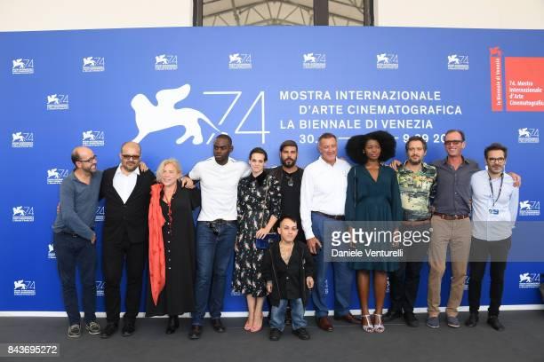 Cosimo Gomez, guest, Narcisse Mame, Simoncino,Sara Serraiocco, Marco D'Amore, Luca Barbareschi, Aline Belib, Claudio Santamaria and guest attend the...
