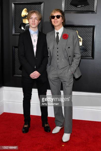 Cosimo Henri and Beck attend the 62nd Annual GRAMMY Awards at Staples Center on January 26 2020 in Los Angeles California