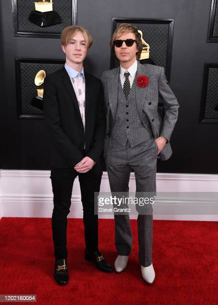Cosimo Henri Hansen and Beck attend the 62nd Annual GRAMMY Awards at Staples Center on January 26 2020 in Los Angeles California