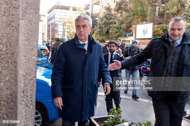 Cosimo Sibilia President of the National Amateur League arrives at the headquarters of the Italian Football Federation for the meeting of the Federal...