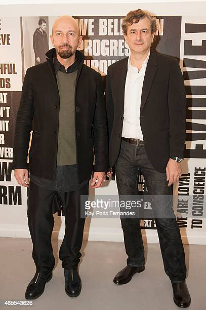 Coskun Kutbay and Kadri Soygul attend the VSP Presentation as part of the Paris Fashion Week Womenswear Fall/Winter 2015/2016 on March 7 2015 in...