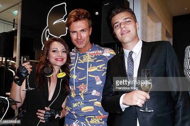 Cosma Shiva Hagen alias Djane Cosmic Sista Andre Borchers and Otis Hagen attend the Karl Lagerfeld Men's Store Opening on September 03 2015 in Berlin...
