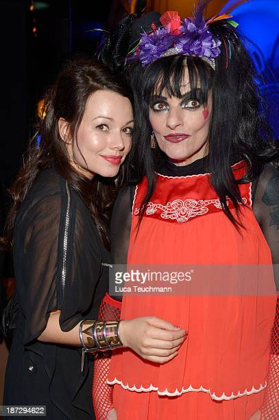 Cosma Shiva Hagen and her mother Nina Hagen attend the after show party of the GQ Men Of The Year Award at Komische Oper on November 7 2013 in Berlin...