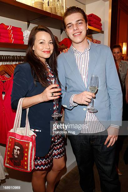 Cosma Shiva Hagen and Otis Hagen attend the Tommy Hilfiger Surf Shack Cocktail Event at the Tommy Hilfiger Store on May 16 2013 in Hamburg Germany