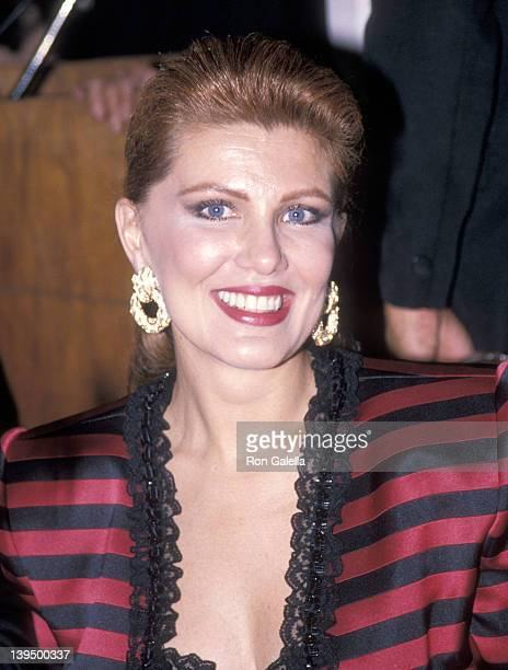 """Cosmetic entrepreneur Georgette Mosbachcer attends the """"La Traviata"""" Opening Night Performance on October 16, 1989 at The Metropolitan Opera House in..."""